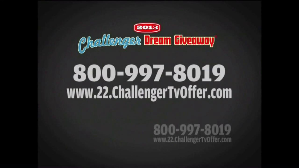 2013 Challenger Dream Giveaway TV Spot - Screenshot 10