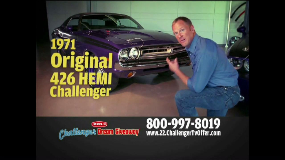 2013 Challenger Dream Giveaway TV Spot - Screenshot 3