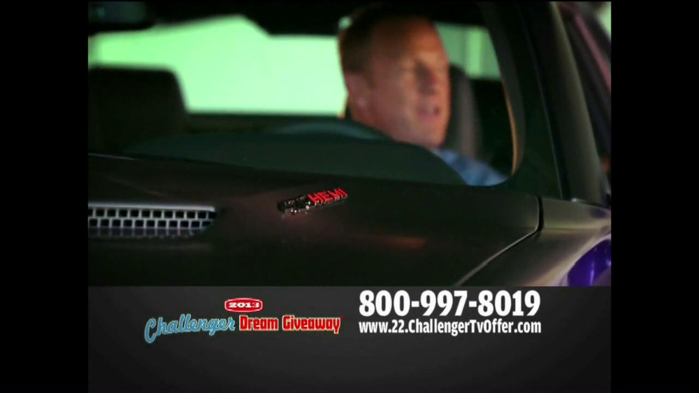 2013 Challenger Dream Giveaway TV Spot - Screenshot 4