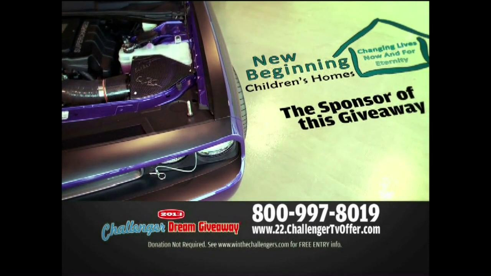 2013 Challenger Dream Giveaway TV Spot - Screenshot 5