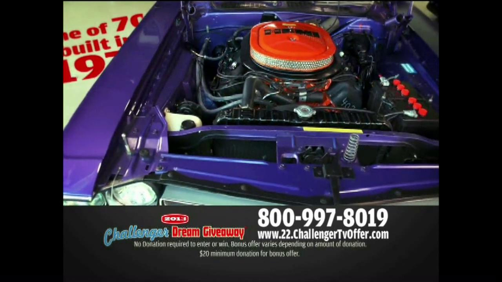 2013 Challenger Dream Giveaway TV Spot - Screenshot 7