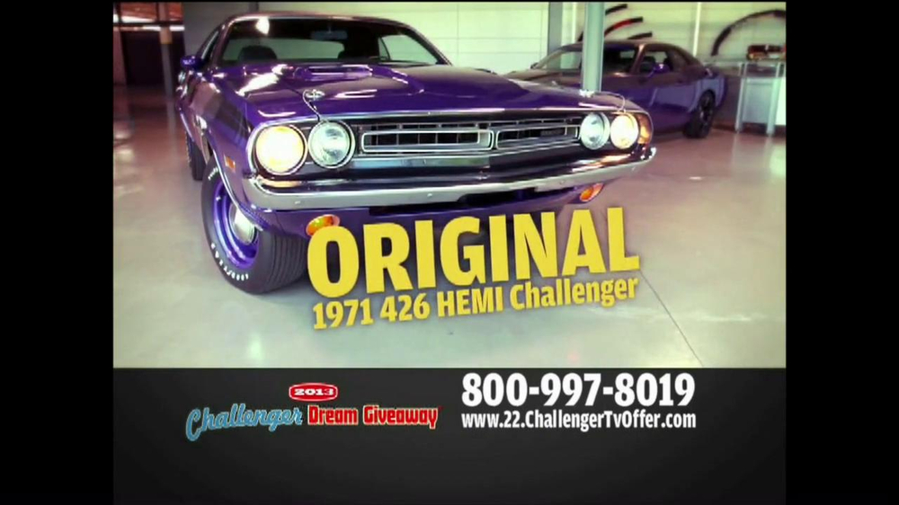 2013 Challenger Dream Giveaway TV Spot - Screenshot 8