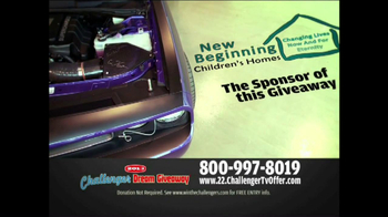 2013 Challenger Dream Giveaway TV Spot - Thumbnail 5