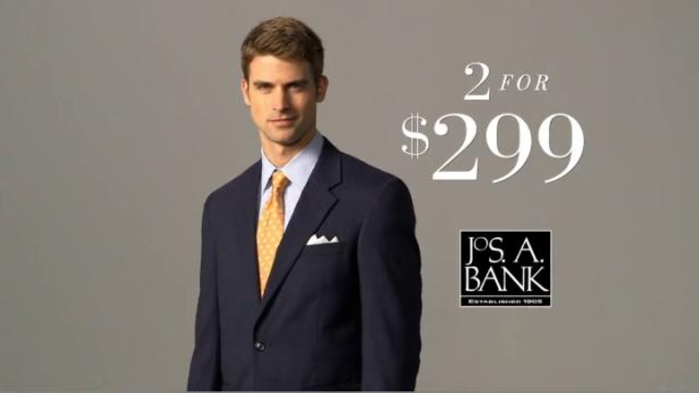 JoS. A. Bank Two for $299 Suit Event TV Spot, Slim and Traditional