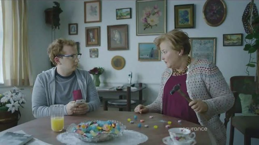 esurance tv commercial   u0026 39 shirlee  candy crush enthusiast