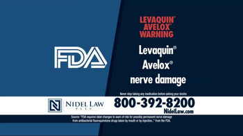 Nidel Law, P.L.L.C. TV Spot, 'Levaquin and Avelox'