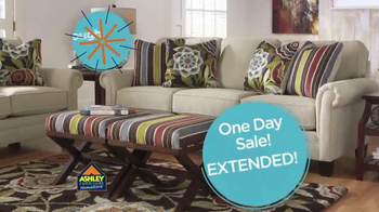 Ashley Furniture Homestore One Day Sale TV Spot, 'Absolutely Ends Monday'