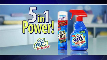 OxiClean MaxForce TV Spot, '5 in 1 Power' - 6940 commercial airings