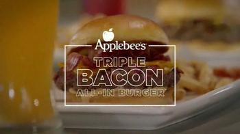 Applebees Triple Bacon All-In Burger TV Spot, 'Revolutionary'