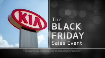 2015 Kia Optima and 2015 Kia Sorento TV Spot, 'Black Friday Deals' thumbnail