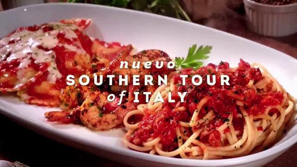 Olive Garden Southern Tour Of Italy Sabores Audaces Spanish Large