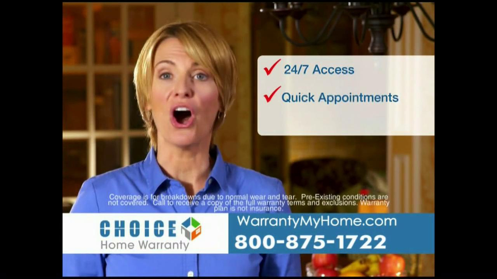 Choice home warranty tv spot 39 comprehensive coverage for American home choice