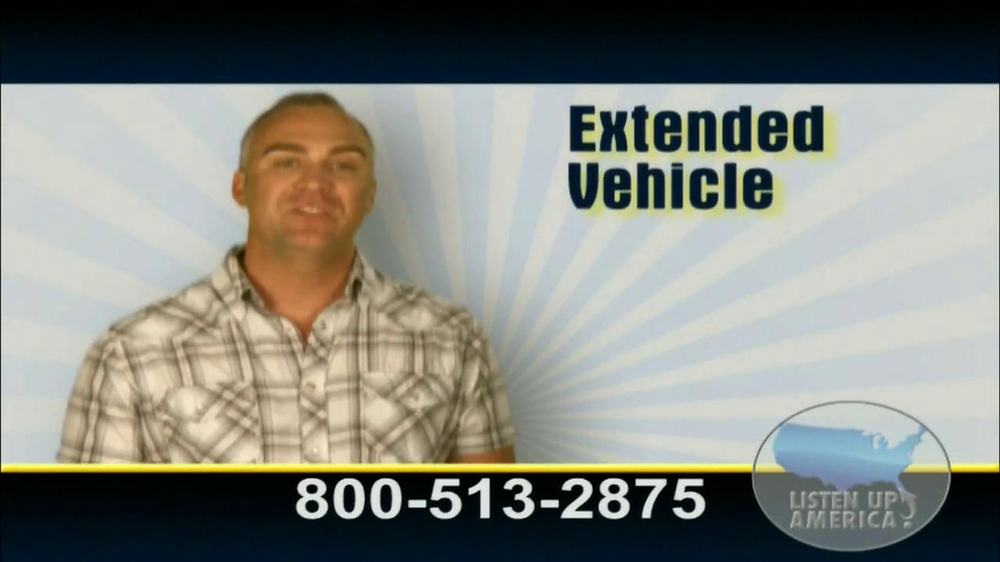 Listen Up America TV Spot, 'Extended Vehicle Protection Plan' - Screenshot 1