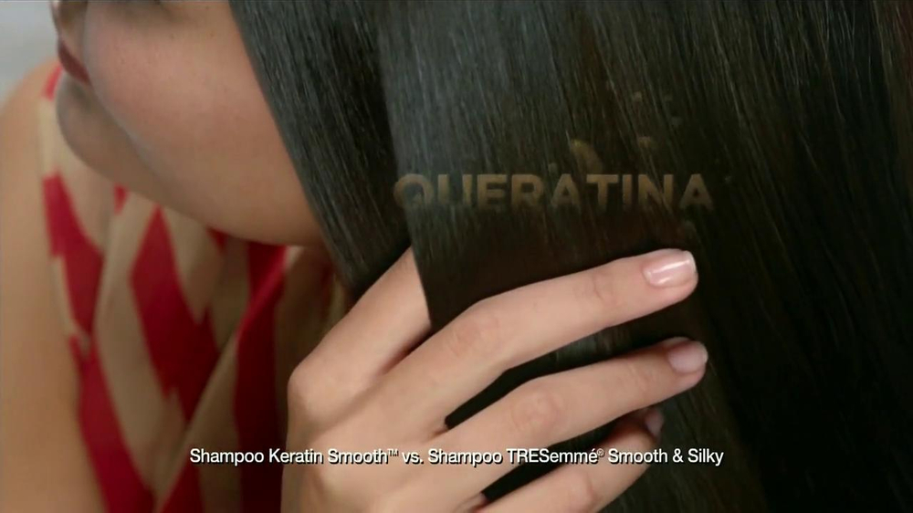 TRESemme Keratin Smooth TV Spot  Spanish  - Screenshot 7Tresemme Keratin Smooth Commercial