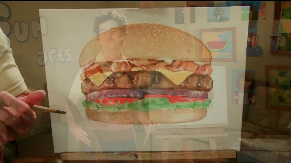 Carl s jr super bacon cheeseburger tv commercial fun arts ispot