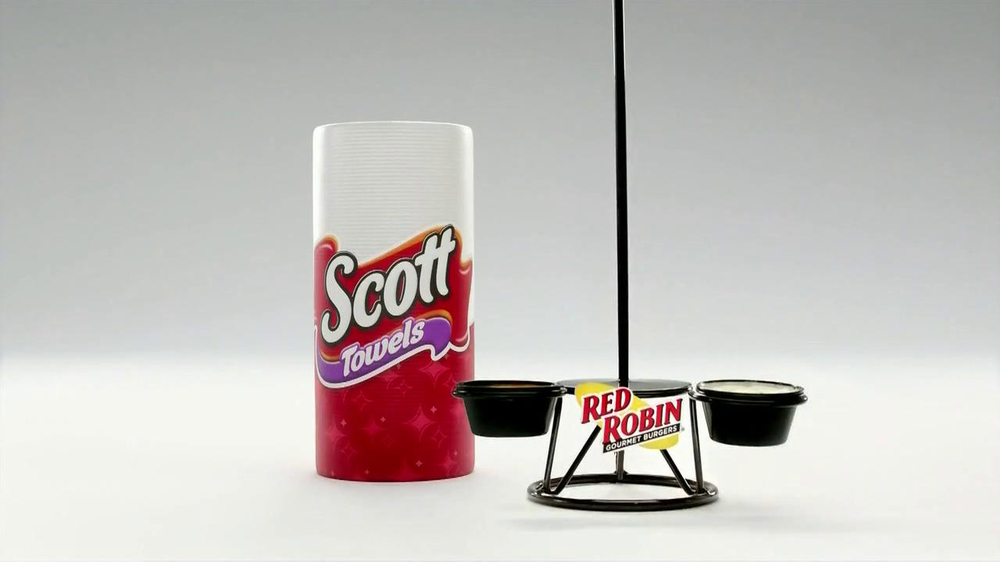Scott Towels TV Spot, 'Red Robin Onion Rings Tower' - Screenshot 2