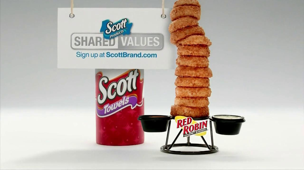 Scott Towels TV Spot, 'Red Robin Onion Rings Tower' - Screenshot 5