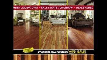Lumber Liquidators 3rd Annual Fall Flooring Yard Sale TV Spot, 'Deals'