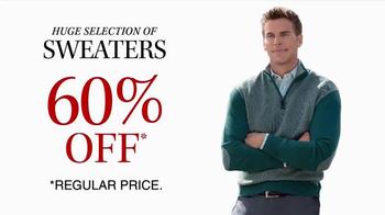 JoS. A. Bank TV Spot, 'October: 60 Percent Off Sweaters'