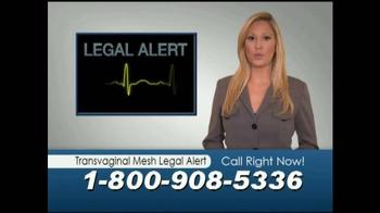 Mostyn Law Firm TV Spot, 'Transvaginal Mesh Legal Alert'