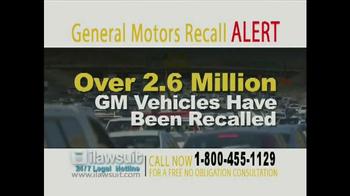 iLawsuit Legal Hotline TV Spot, 'General Motors Recall Alert'