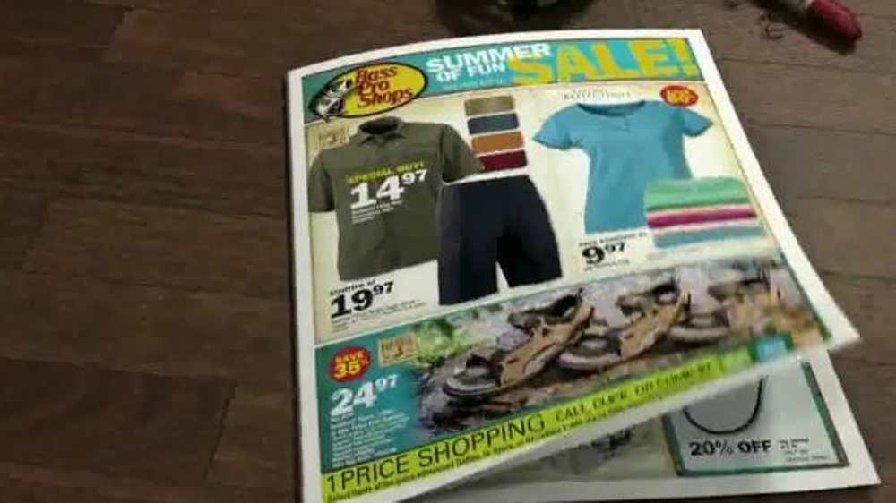 Bass pro shops summer of fun sale tv commercial 39 fishing for Bass pro fishing sale
