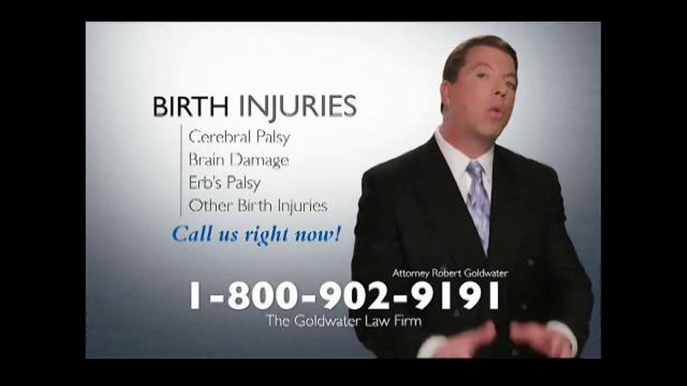 Pulaski Law Firm >> Goldwater Law Firm TV Spot, 'Birth Injuries' - iSpot.tv