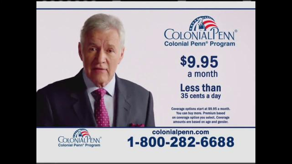 Colonial Penn Question For You Featuring Alex Trebek on Colonial Penn Life Insurance