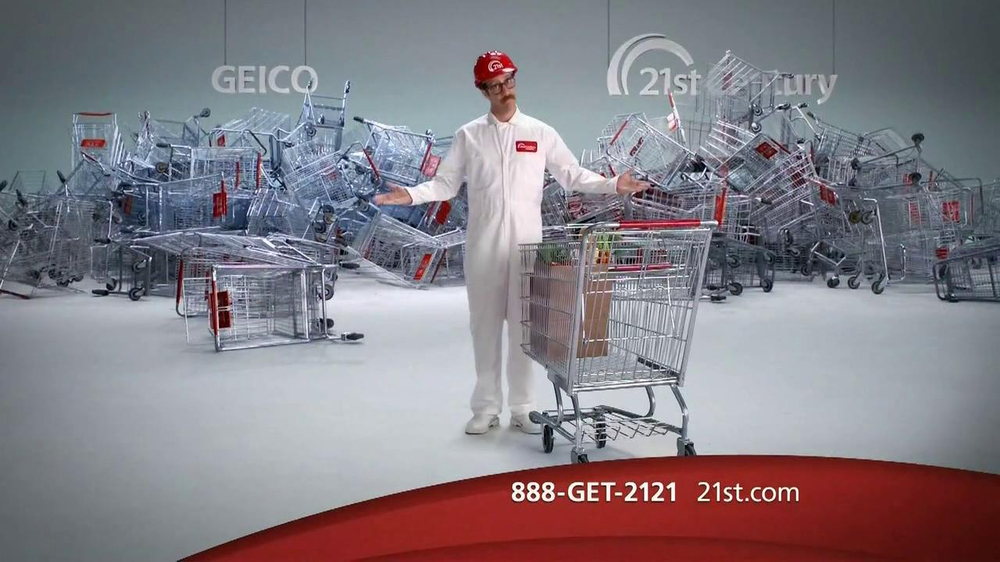 21st Century Insurance TV Commercial, 'Falling Shopping Carts ...