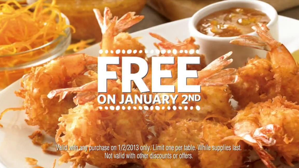 Outback Steakhouse TV Spot, 'Free Bloomin' Onion or Coconut Shrimp' - Screenshot 8