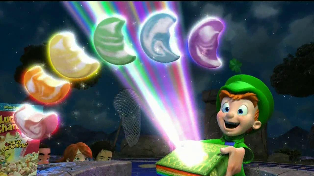 Lucky Charms TV Spot 'Swirled Moons' - Screenshot 3
