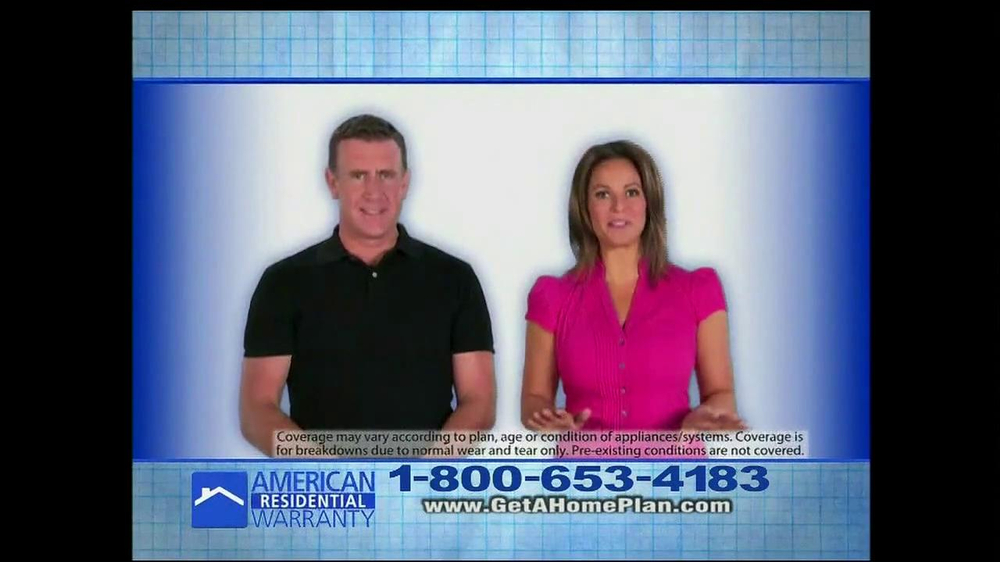 American residential warranty tv commercial 39 1 a day for Www get a home plan com