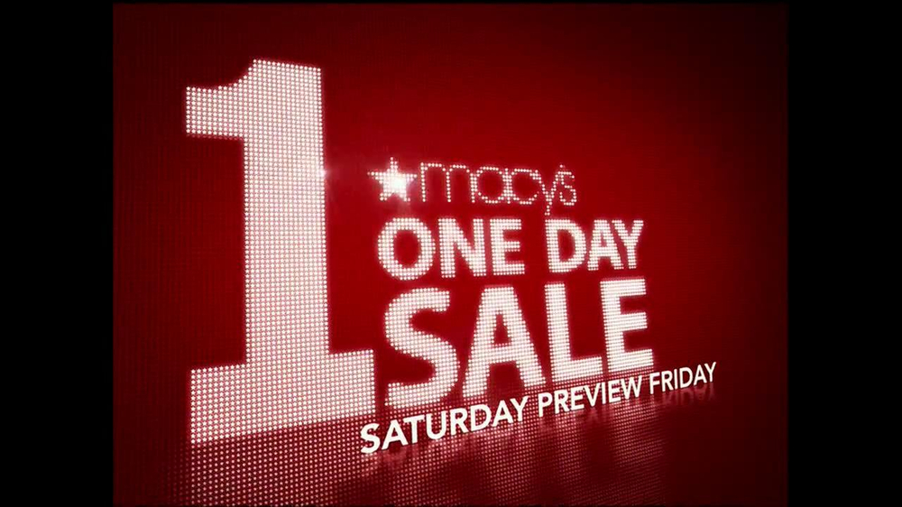 Macys Clearance Furniture Macy's 1-Day Sale TV Commercial, 'October 20' - iSpot.tv