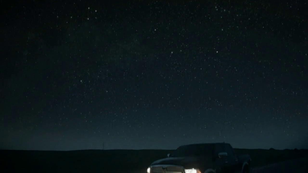 2013 Ram 1500 TV Spot, 'Earth Split' Featuring Sam Elliott - Screenshot 1