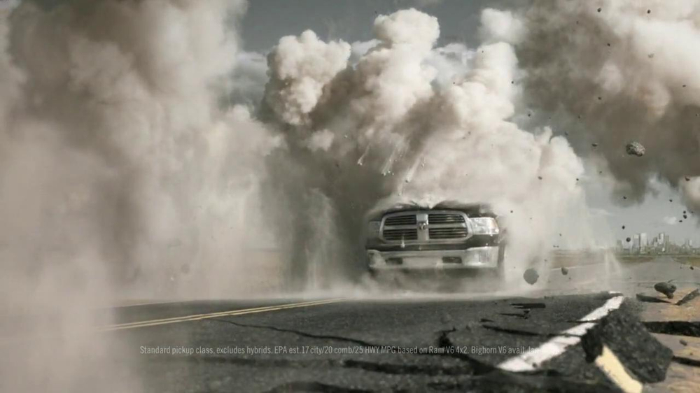 2013 Ram 1500 TV Spot, 'Earth Split' Featuring Sam Elliott - Screenshot 4