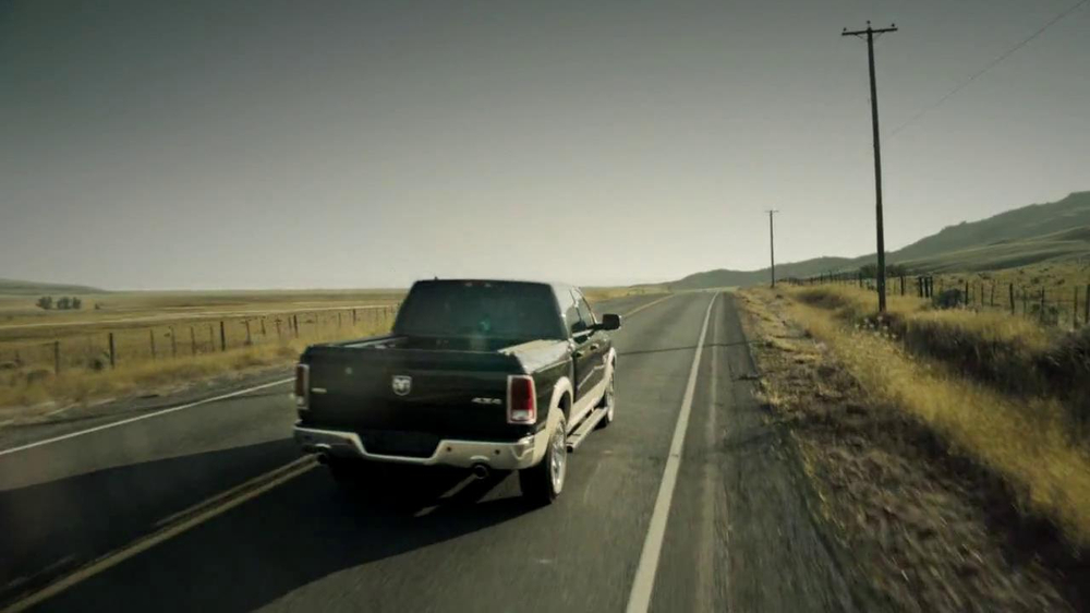 2013 Ram 1500 TV Spot, 'Earth Split' Featuring Sam Elliott - Screenshot 9