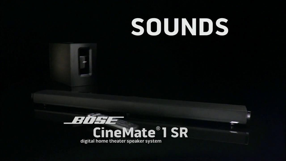 Bose CineMate 1SR TV Spot, 'Sounds of the NFL' - Screenshot 2