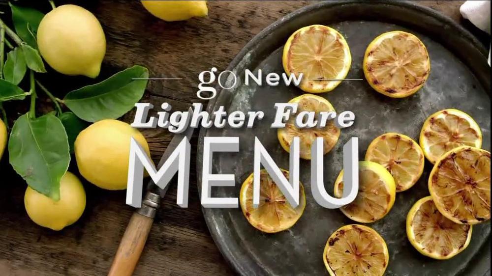 Olive garden lighter fare menu tv commercial 39go39 ispottv for Olive garden light menu