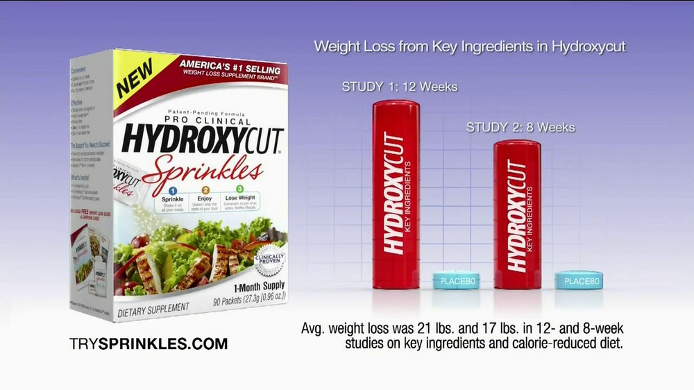 Hydroxy Cut Sprinkles TV Spot, 'Powerful Weight Loss' - Screenshot 7