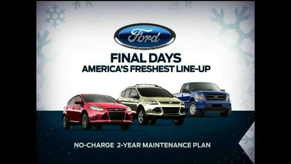 Ford Year End Celebration Tv Commercial 7 Days To Save