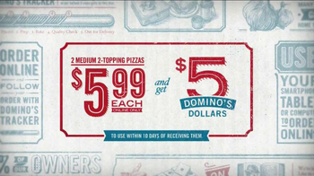 Domino's Pizza TV Spot, '5 Dominos Dollars' - Thumbnail 8