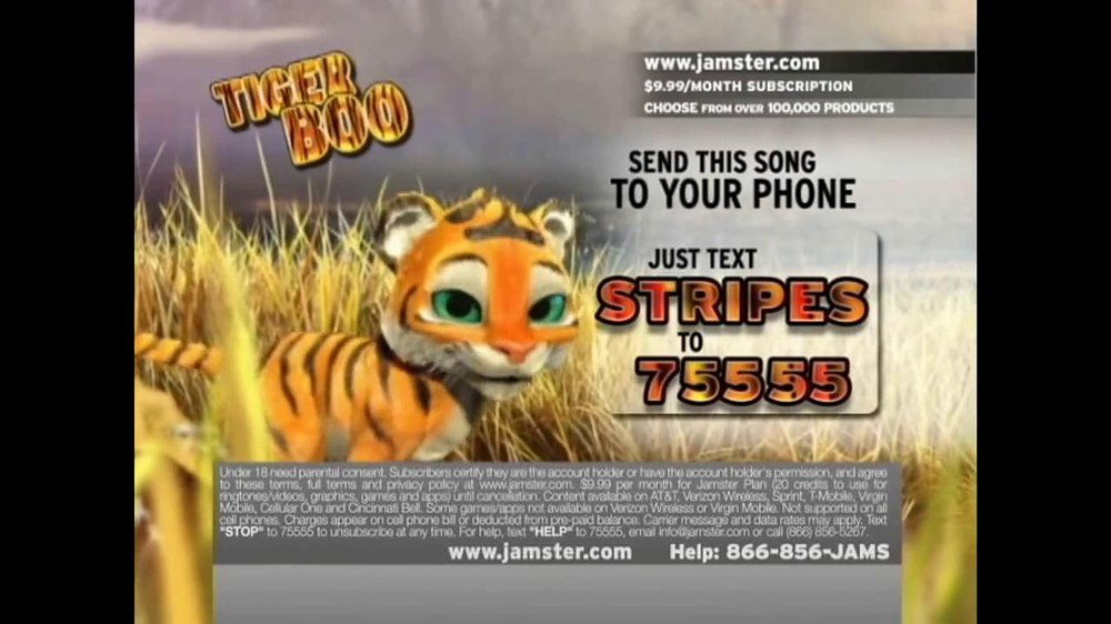 Jamster TV Spot 'Tiger Boo' - Screenshot 7