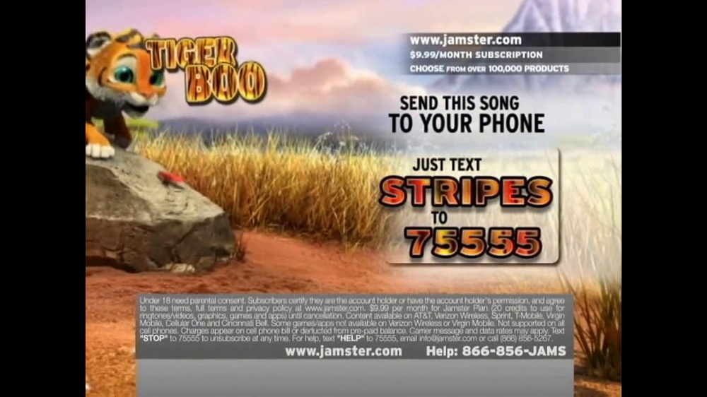 Jamster TV Spot 'Tiger Boo' - Screenshot 4