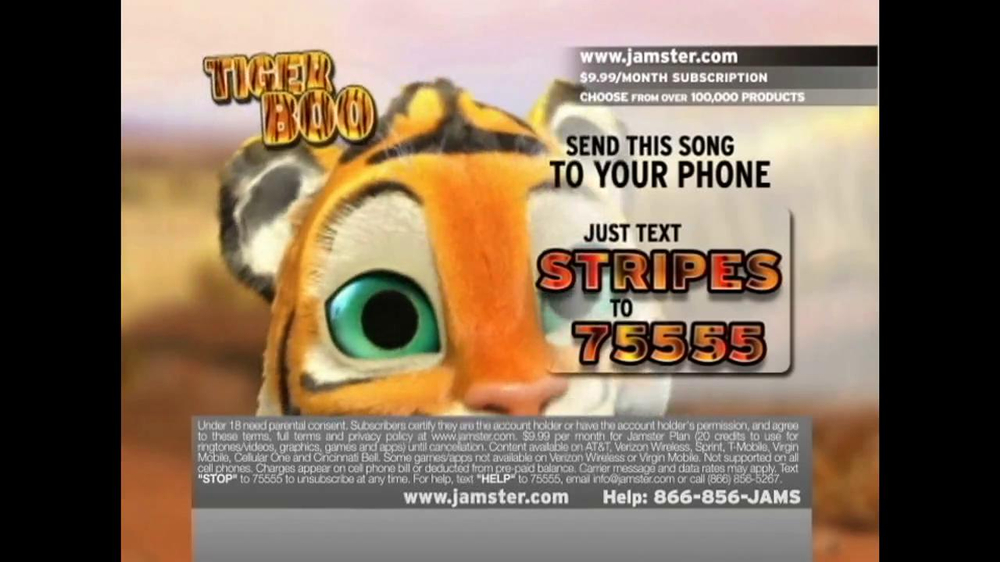 Jamster TV Spot 'Tiger Boo' - Screenshot 5