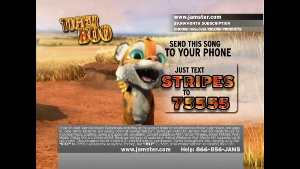 Jamster TV Spot 'Tiger Boo' - Screenshot 6