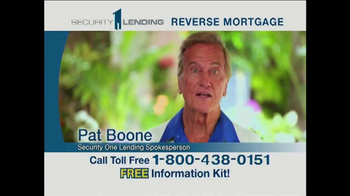 Security 1 Lending TV Spot Featuring Pat Boone - Thumbnail 1