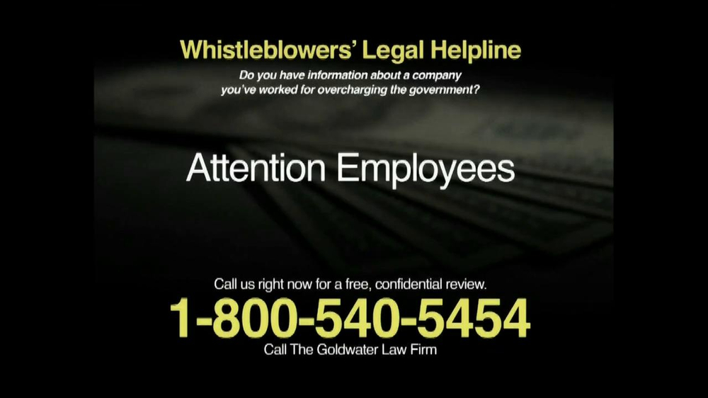 Pulaski Law Firm >> Goldwater Law Firm TV Commercial 'Whistleblowers' - iSpot.tv
