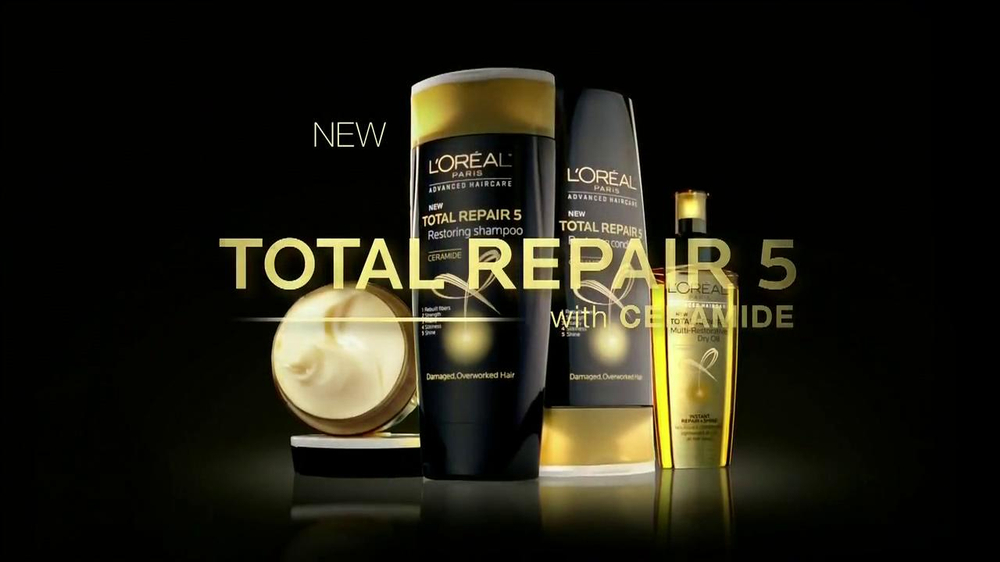 Loreal Total Repair 5 TV Spot Featuring Lea Michele - Screenshot 3