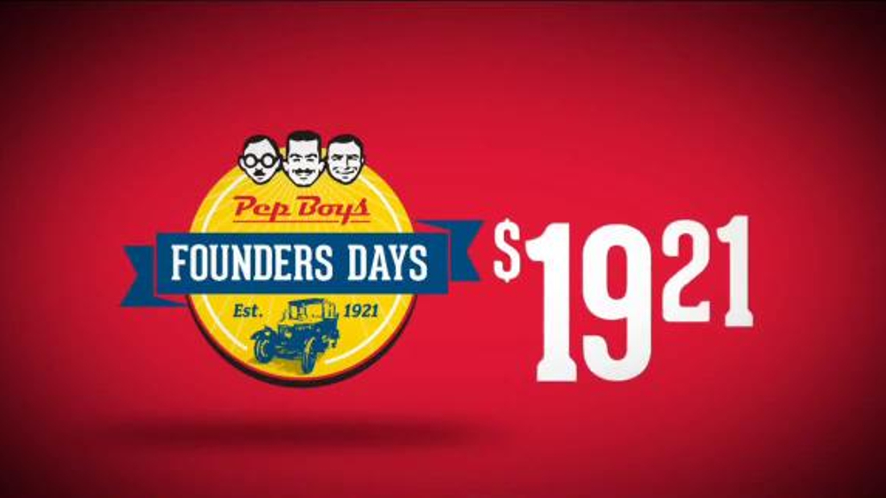 PepBoys Founders Days TV Spot, 'Find Deals Here'