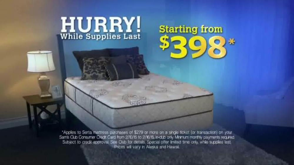 Sam s Club TV mercial Special Mattress fer iSpot